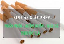 Xin cấp Giấy phép kinh doanh sản phẩm thuốc lá